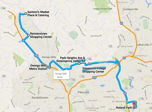 Owings Mills Route by Kangaroo Coach